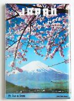 Japan Travel FRIDGE MAGNET travel poster mt fuji cherry blossom