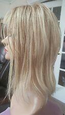 CUSTOM ORDER 100% human Hair Topper Whopper Kippah Lace front Blonde Highlights