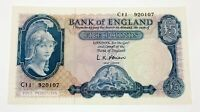 No Date (1957 - 1967) Great Britain 5 Pounds Note AU Pick #371a