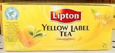 Lipton YELLOW LABEL TEA International Blend 100% Natural Health 25 Teabags/Box