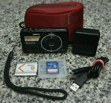 Sony Cyber-Shot DSC-WX9 16.2MP 1080p Black Camera 5x W/ Extras 16GB Tested FR/SH