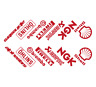 14x Angled RED Logo Graphics Decal Race Stickers Motorcycle Fairing Motorbike