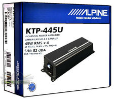 Alpine KTP-445U 4-Channel Universal Head Unit/ Car Power Pack Amplifier KTP445U