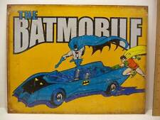"The Batmobile Batman & Robin Tin Metal Sign 12 1/2"" x 16"" New"