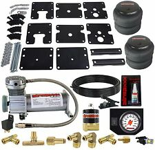 Air Tow Assist Kit No Drill 99-06 Chevy Silverado 1500 Wht Gauge Air Compressor