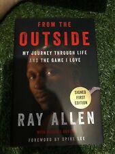 Ray Allen signed book Basketball champion Heat, Bucks, Celtics