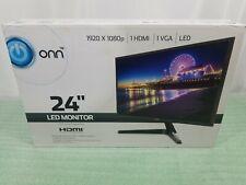 ONN 24-inch Slim 1920x1080 60hz VGA HDMI LED computer monitor - Open Box