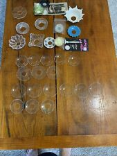 Antique Bobeches for Candlesticks Vintage Collection Crystal Pressed