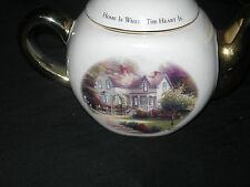 "THOMAS KINKADE ""Home is Where the Heart Is II "" Teapot with Gold Trim"