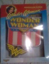 WONDER WOMAN - Collector's PENDULUM CLOCK DC Comics INVISIBLE PLANE - New WW