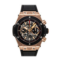 Hublot Big Bang Unico King Gold Auto 45mm Mens Strap Watch Date 411.OM.1180.RX
