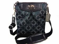 NWT Coach Dotted Op Art Madison Black Silver Swingpack Crossbody 43430 Shoulder