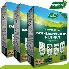 Westland 3 x 1 kg Smart Green Rasensamenmischung Neueinsaat »Englands Nummer 1«