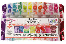 KALEIDOSCOPE Tie Dye 12 Colour Kit by Tulip - FREE POST - dyes 36 items DIY