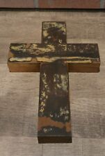 Reclaimed Wooden Cross Rustic Distressed Painted Wood Barnwood Door Wall Decor