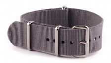 Extra Large 20mm Grey N.A.T.O Military Watch Strap manufactured by MWC of Zürich