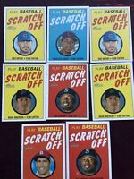 8- CARD 2019 AND 2020 HERITAGE SCRATCH OFF INSERT LOT!
