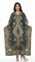 Women Caftan Top Dress Gown New Long Kaftan dress Hippy Boho Maxi,1 Size Plus