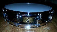 "14"" Vintage Tama Piccolo Snare Drum 10 Lug MIJ Made In Japan Remo Heads -Black-"