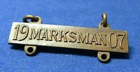 Pre-WWI 1907 Philippines Cuba Marksman Badge by D.A. Davison