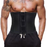 Men Body Shaper Sport Latex Waist Trainer Underbust Steel Bone Corset Shapewears