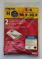 New Shop Vac Type H Vacuum Filter Bag 5 8 Gallon Fine Filtration 2 Pack 90671