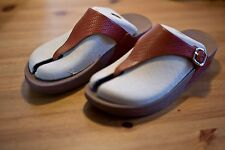 "FitFlop flip-flops ""The Skinny Dark Tan"" Size eu40 us8.5 uk6.5 Brown (Leather)"