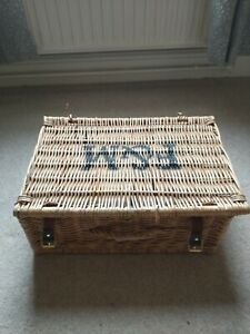 Fortnum and Mason Picnic Hamper Wicker Basket with Handle and Straps