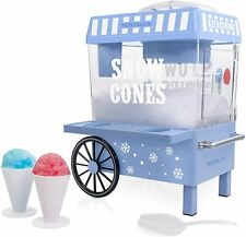 Nostalgia Vintage Countertop Snow Cone Maker Machine Ice Shaver Crusher Shaved