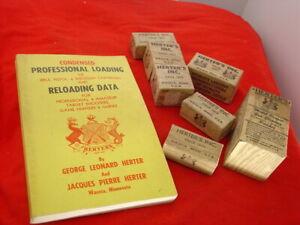 Vintage Herter's Reloading Misc 7 Die Dies Set & Boxes + Book