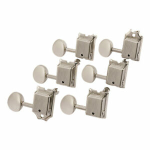 Fender Road Worn Vintage Style Tuners 6 In-Line Right Handed (Aged/Relic Nickel)
