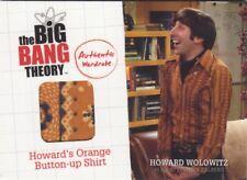 Big Bang Theory Season 1 & 2 Howard's Orange Button-up Shirt M6 Wardrobe Card