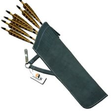 Carol Traditional Leather Hip/Side Arrow Quiver Aq136S - Black