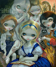 Jasmine Becket-Griffith art print SIGNED Alice and the Bouguereau Princesses