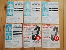 (6) 1960s Creamette Company Coupon Sheets Advertising Sports Equipment Shirts MN