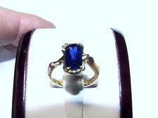 18 carat yellow gold handmade natural blue sapphire gemstone ring