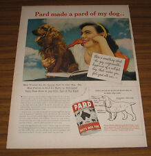 1945 Vintage Ad Pard Swifts Dog Food Pretty Lady and her Cocker Spaniel
