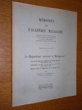 POISSON - LE MAGNETISME TERRESTRE A MADAGASCAR - 1949