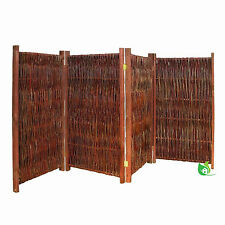 Paravent aus Weide 150 x 240cm Sichtschutz Weidenparavent 4-teilig Trennwand