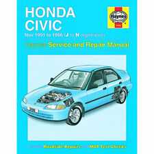 Honda Civic Haynes Manual 1991-96 1.3 1.5 1.6 Petrol Workshop