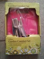 015 NIB 4 Piece Garden Comfort Tool Set Kneeler Pad Trowel Rake Shovel