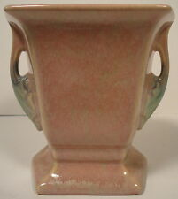 Roseville Pottery Tuscany Small Pink 2 Two Handled Vase 70-5 Paper Tagged c.1927