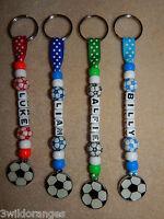 Personalised bag tag Bagtag Keyring Football School