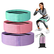 3pcs Fabric Resistance Bands Kit Butt Exercise Loop Circle Set Legs Glutes Women