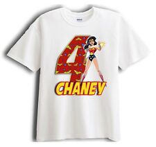 Wonder Woman Personalized - Birthday T-Shirt Party Favor