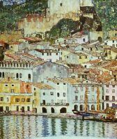 Gustav Klimt Malcesine on Lake Garda Fine Art Print on Canvas Giclee Repro Small