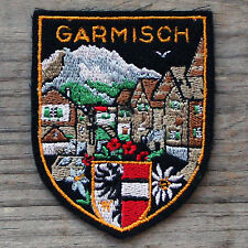GARMISCH Partenkirchen Vintage Ski Travel Patch GERMANY Skiing ZUGSPITZE