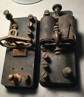2 Antique Morse Code Telegraph Relay Sounders