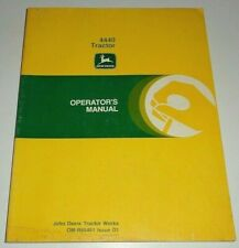 John Deere 4440 Tractor Operators Maintenance Trouble Shooting Manual Original!