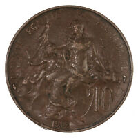 Raw 1912 France 10C Uncertified Ungraded French Coin